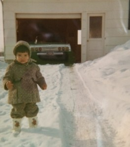 Here I am in my snowy driveway.