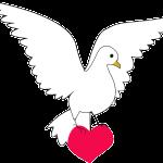 dove holding heart